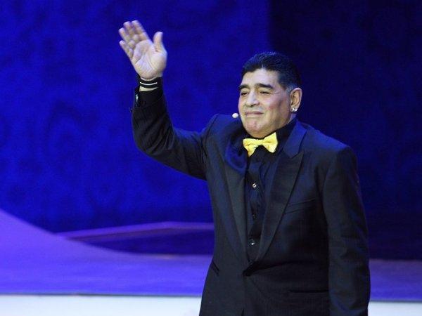 Выражение лица Марадоны на жеребьевке ЧМ-2018 стало мемом в Сети