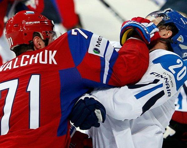 Хоккей, Россия - Финляндия: счет 3:0, обзор матча 17.12.2017, видео голов, результат (ВИДЕО)