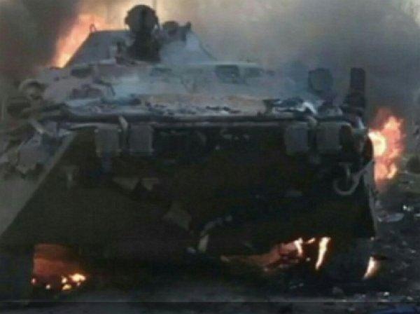 Российский солдат сжег БТР, разогревая обед