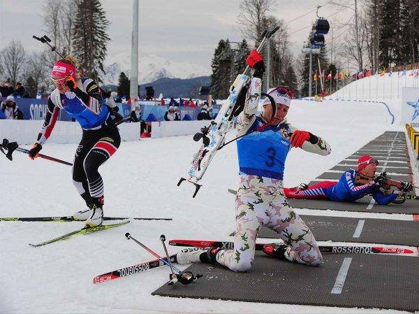 Россияне выступят в смешанной эстафете по биатлону на Олимпиаде-2018