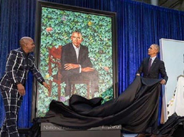 В Сети высмеяли официальный потрет Барака Обамы