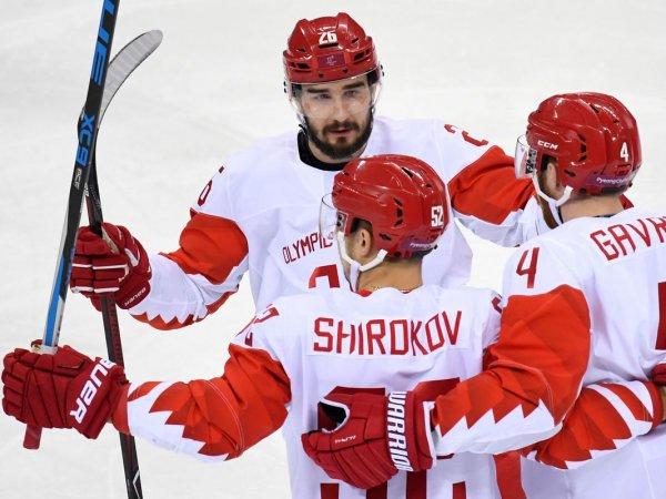 Россия разгромила Словению в хоккейном матче на Олимпиаде в Пхенчхане