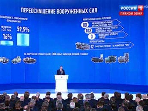 Путин в своем послании показал новое оружие России