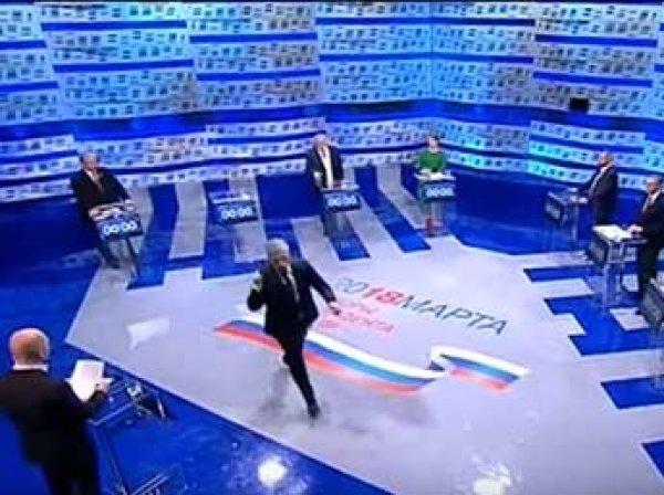 """""""Это базар"""": Грудинин покинул дебаты на Первом канала прямо во время эфира"""