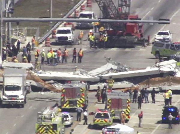 В Майами рухнул пешеходный мост, есть погибшие