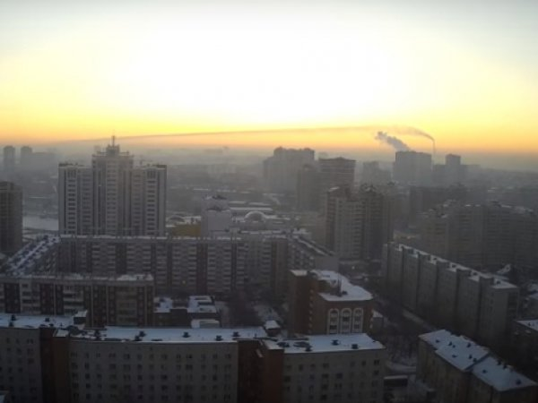 В небе над Новосибирском засняли метеорит