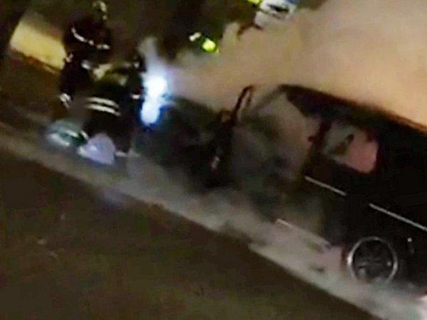 СМИ: в Москве сгорел внедорожник Тимати