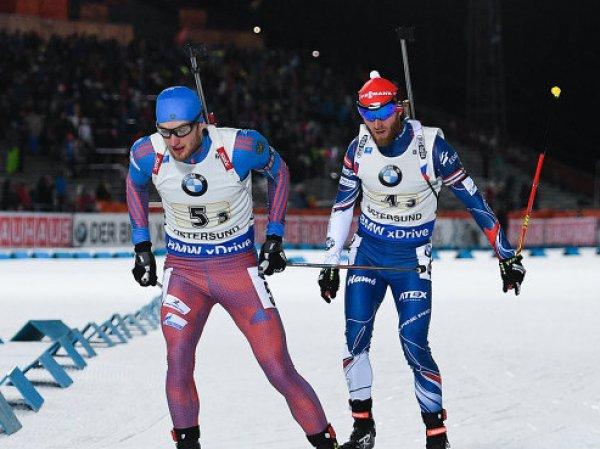 Россияне не смогли взять медали в смешанной эстафете по биатлону