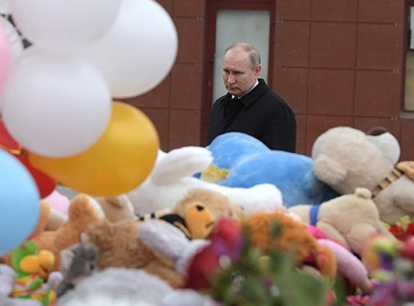 """Кемерово, последние новости сегодня: Путин назвал причины трагедии в """"Зимней вишне"""""""