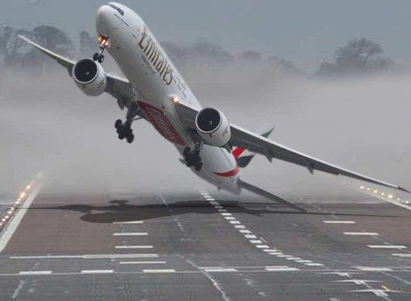 YouTube шокировало видео посадки крупнейшего лайнера А-380 в шторм