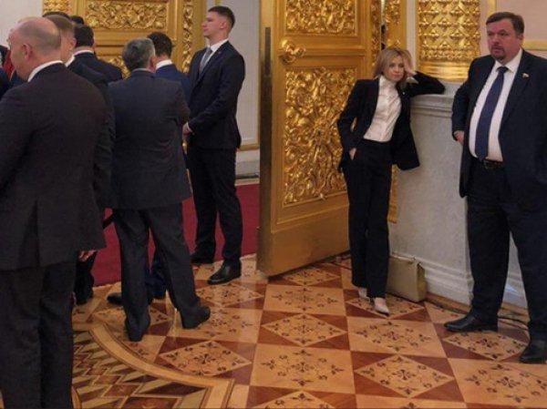 Задумчивая Поклонская на инаугурации Путина стала мемом в Сети