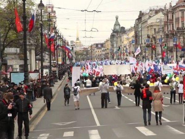 За коллаж с Путиным во время Первомая жительнице Петербурга грозит месяц ареста