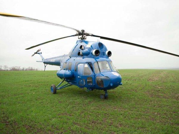 На Ставрополье пытались закопать упавший вертолет Ми-2