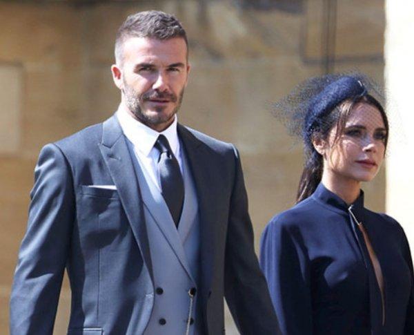 Виктория и Дэвид Бэкхэм оконфузились на свадьбе принца Гарри и Меган Маркл