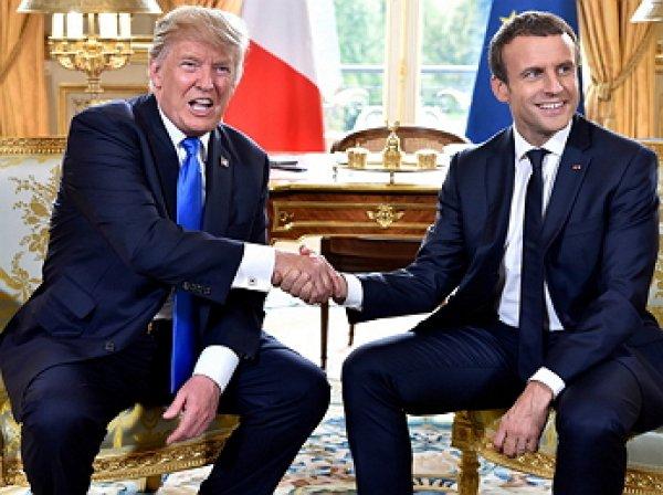 «Бедный Дональд»: в Сети пожалели Трампа после рукопожатия с Макроном