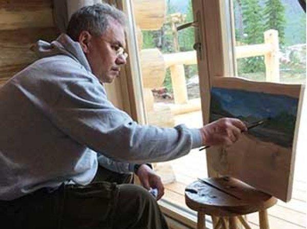 Шойгу в Туве впервые открыто представил свои картины