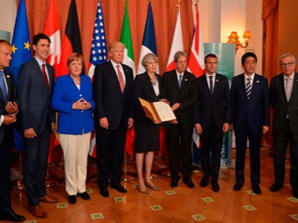 Лидеры G7договорилась опротиводействии «враждебной» России