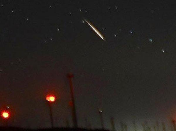 Китаец снял на видео падение метеорита