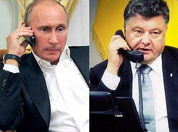 Путин провел переговоры с Порошенко: Кремль назвал темы