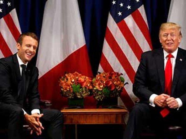 Президент Франции Макрон сравнил разговоры с Трампом с содержимым сосиски