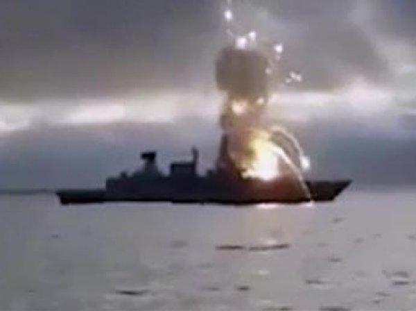 В Сеть попало видео взрыва ракеты прямо на немецком фрегате