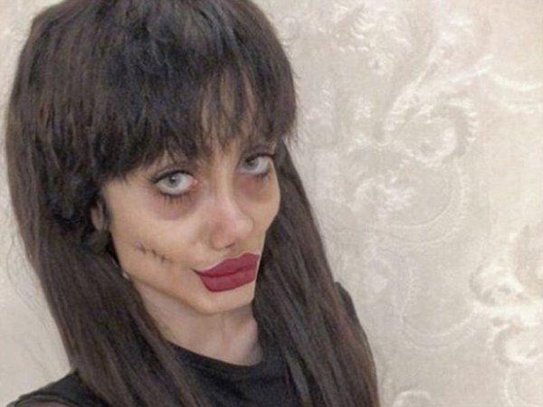 """Иранская """"зомби-Джоли"""" показала свое истинное лицо без макияжа"""