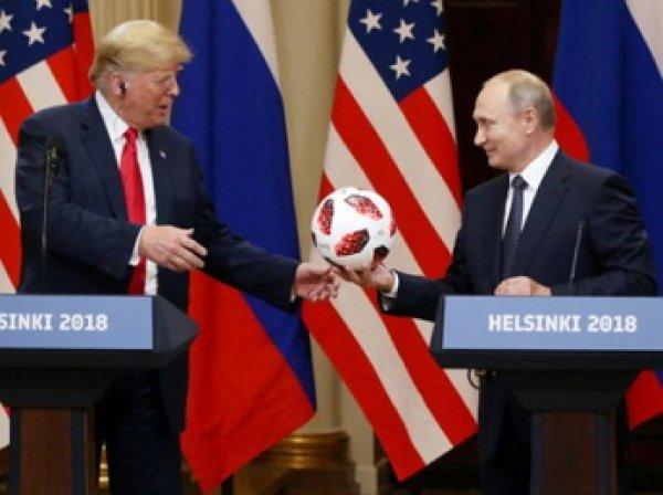 Путин подарил Трампу футбольный мяч с чипом