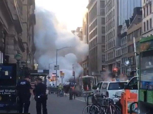 Опубликовано видео с места взрыва на Манхэттене в Нью-Йорке