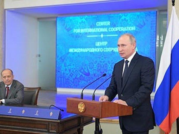 Путин сообщил о миллионах попыток кибератак во время ЧМ-2018