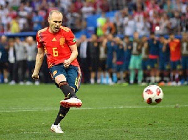 Легендарный полузащитник Андрес Иньеста решил уйти из сборной Испании после победы России