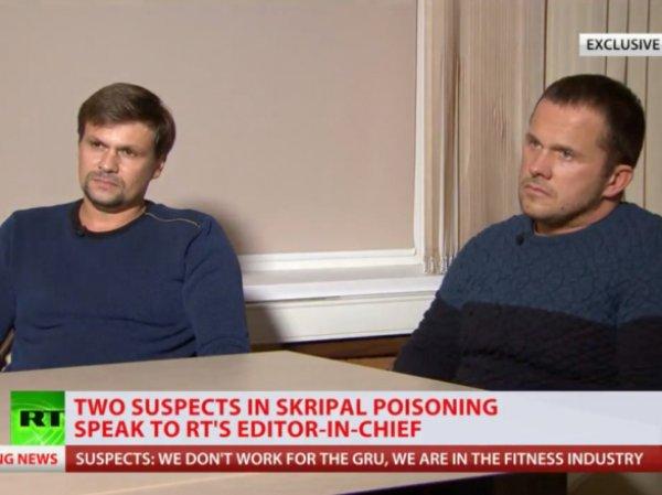 """""""Отравители"""" Скрипалей Боширов и Петров рассказали, зачем приехали в Солсбери"""