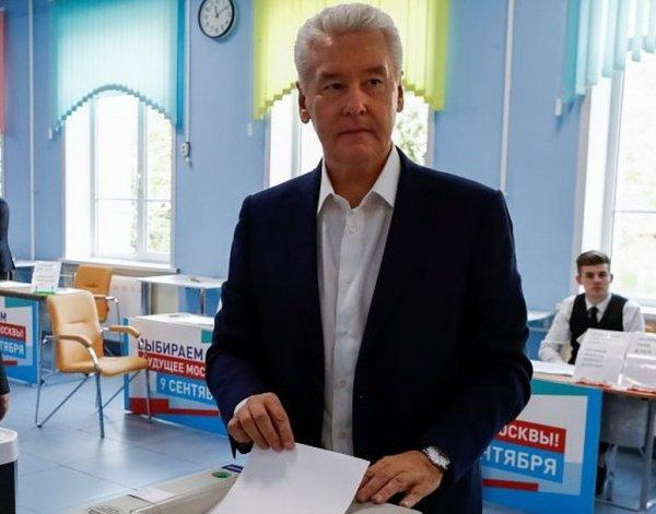 Результаты выборов мэра Москвы 2018: Собянин набирает 74% голосов