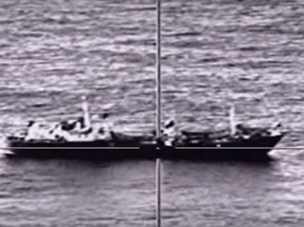 В Сети появилось видео удара новейших российских ракет по кораблям