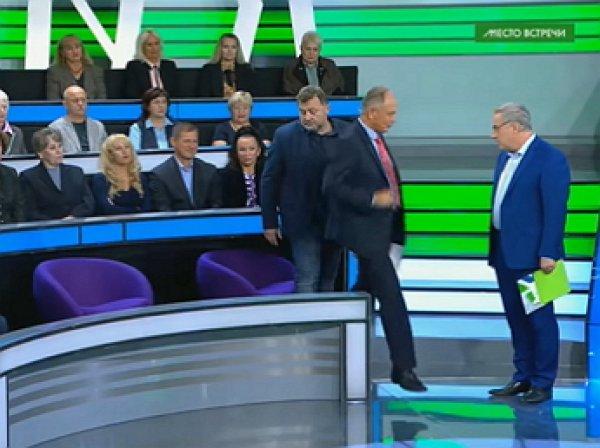 """""""У вас недержание, что ли?"""": украинца выгнали из студии ток-шоу на НТВ"""