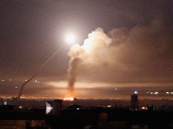 Опубликовано видео перехвата израильской ракеты сирийскими силами ПВО