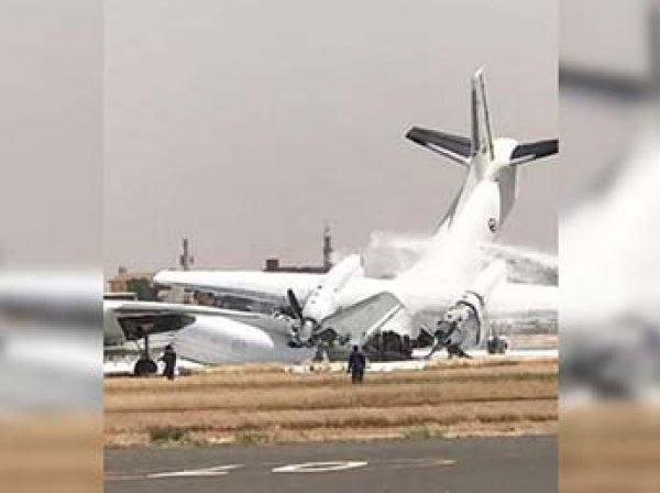 В Сети появилось видео столкновения двух самолетов Ан в Судане