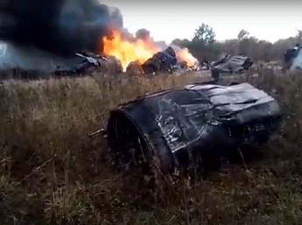 В Сеть попало видео с места крушения МиГ-29 в Подмосковье