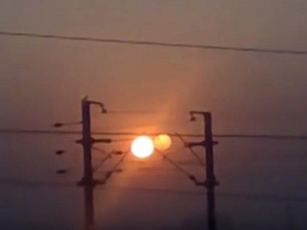 В Индии сняли на видео Нибиру рядом с Солнцем