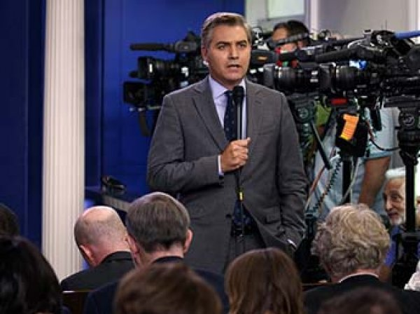 Перепалка Трампа с журналистом CNN, после которой его лишили аккредитации, попала на видео