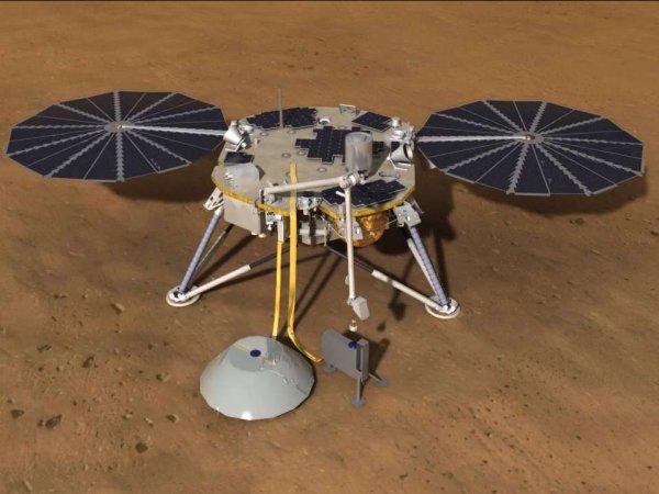 Приземлившийся на Марсе космический аппарат InSight передал первые фотографии