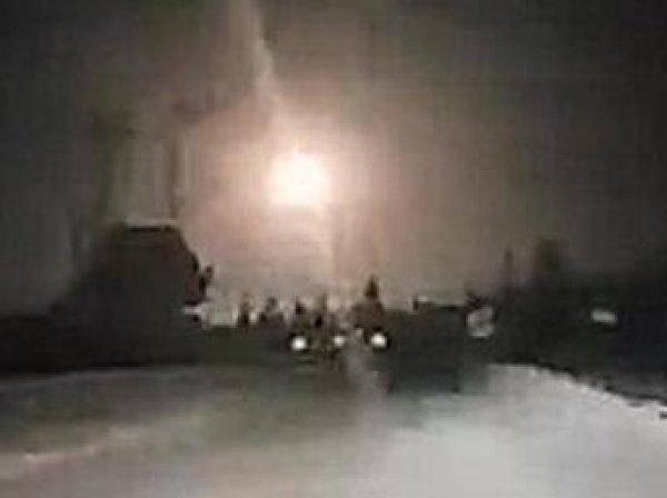 В Сети появилось видео отражения ракетной атаки Израиля в Сирии