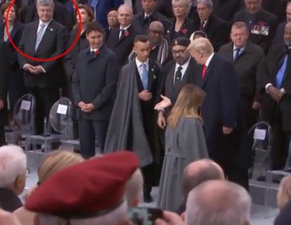 Трамп унизил Порошенко на параде в Париже перед телекамерами (ВИДЕО)