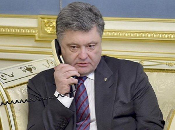 Порошенко перешел накрик вразговоре сглавой УПЦ