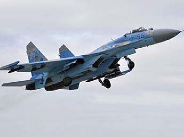 В Сети появились фото разбившегося на Украине истребителя Су-27