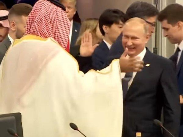 """В США посмеялись над Путиным, """"давшего краба"""" саудовскому принцу (ВИДЕО)"""