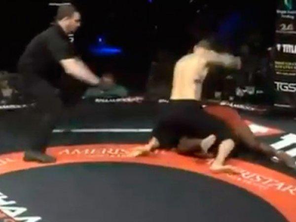 Самый быстрый нокаут в истории UFC попал на видео