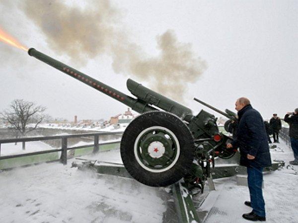 Путин раскрыл свое воинское звание и выстрелил из пушки (ВИДЕО)