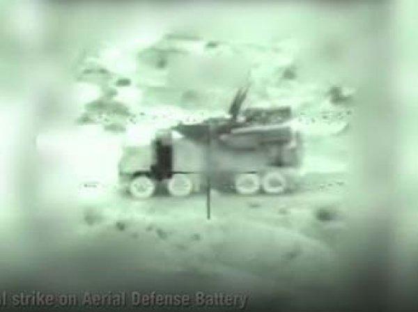 """Израиль показал видео уничтожение """"Панциря-С1"""" в Сирии"""