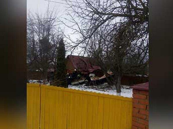 Самолет упал прямо на жилой дом в Подмосковье