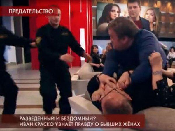 """Эфир """"Пусть говорят"""" о женах Ивана Краско закончился массовой дракой (ВИДЕО)"""